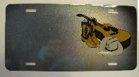 Boots Guitar And Sombrero Music Instrument car plate graphic
