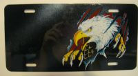 Eagle Reaping Through America USA car plate graphic