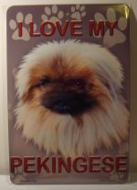I Love My Pekingese Dog Best Friend Doggy car plate graphic