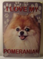 I Love My Pomeranian Dog car plate graphic