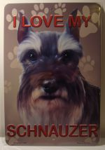 I Love My Schnauzer Dog Puppy car plate graphic