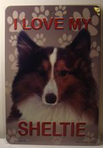 I Love My Sheltie Dog Puppy car plate graphic