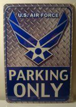 U.S. Air Force Parking Only car plate graphic