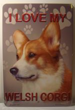 I Love My Welsh Corgi Dog Puppy car plate graphic