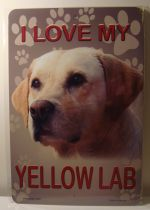 I Love My Yellow Lab Dog Puppy car plate graphic