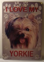 I Love My Yorkie Dog Puppy car plate graphic