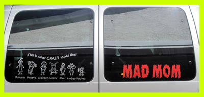 mad mom family car sticker