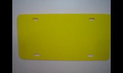Plastic Blank License Plate - Yellow