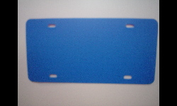 Plastic Blank License Plate - Olympic Blue