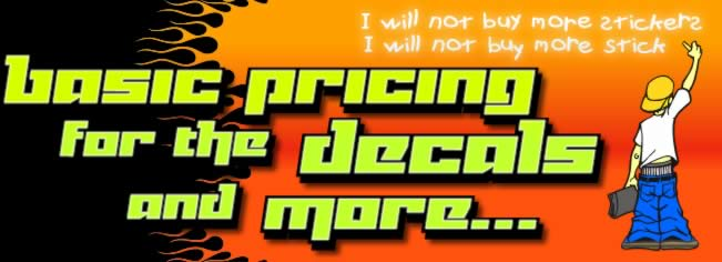 decal dude writing I will not buy more viny stickers and pricing intro image