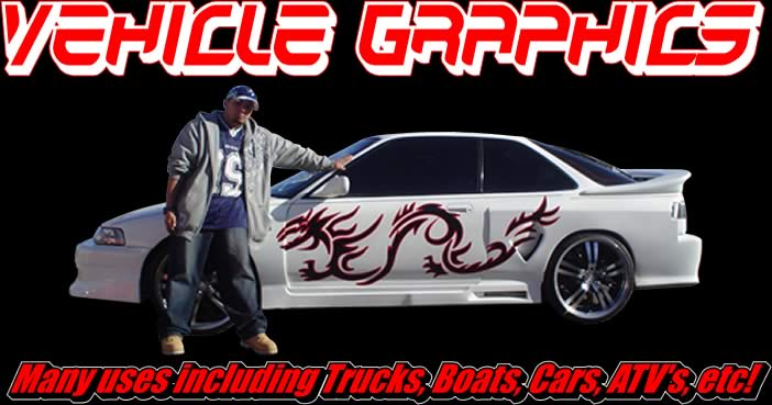 Vehicle Graphics Flames Tribals Splashes And More - Custom vinyl stickers for trucks