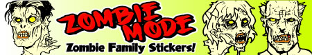 Zombie Family Stickers for Cars
