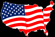 American_United_Shaped Flag Decal Graphic