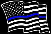 Blue Lives Matter Wave Flag Decal Graphic