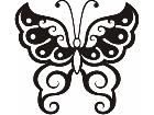 Butterfly Tribalized 0 9 0 Decal