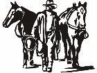 Cowboy At Days End C U 1 Decal