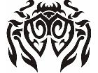 Crab Tribal 2 7 5 Decal