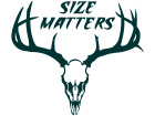 Deer Skull Size Matters Decal