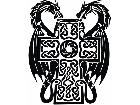 Dragons Cross Tribal Decal