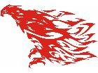Eagle Body Flaming 1 8 E F 1 Decal