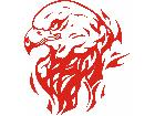 Eagle Flame Head 0 0 E F 1 Decal