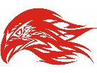 Eagle Flame Head 0 8 E F 1 Decal