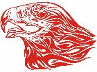 Eagle Flame Head 1 9 E F 1 Decal
