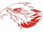 Eagle Flame Head 2 1 E F 1 Decal