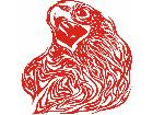 Eagle Flame Head 2 3 E F 1 Decal