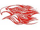 Eagle Flame Head 3 1 E F 1 Decal