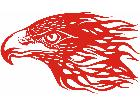 Eagle Flame Head 3 2 E F 1 Decal