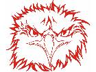 Eagle Flame Head 3 4 E F 1 Decal