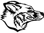 Fox Wolf Head M B 1 Decal