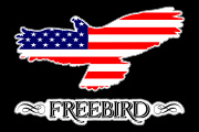 Freebird_American Flag Decal Graphic