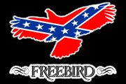 Freebird_Rebel Flag Decal Graphic