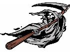 Grim Reaper Blowing G D 1 Decal