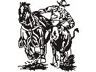 Horse Rodeo Cow Tackle C U 1 Decal