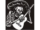 Mexican Guitar Skeleton Decal
