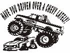 Monster Truck Ford Chevy Decal