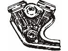 Motorcycle Engine 2 M M 1 Decal