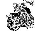 Motorcycle Front Section Decal