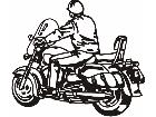 Motorcycle Rider 1 M M 1 Decal