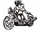 Motorcycle Rider 2 M M 1 Decal