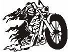 Motorcycle Skeleton Decal
