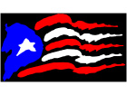 Puerto Rico Rough Style Flag 1 C L 1 Decal