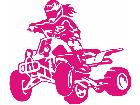 Quad Ride Female Decal