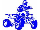 Quad Rider Male Decal