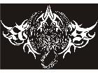 Scorpian Tribal Lines Decal