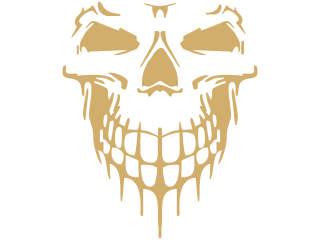 Skull Cool Frontal 1 Decal Proportional