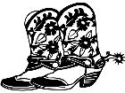 Southwest Cowboy Boots 1 7 7 V A 1 Decal